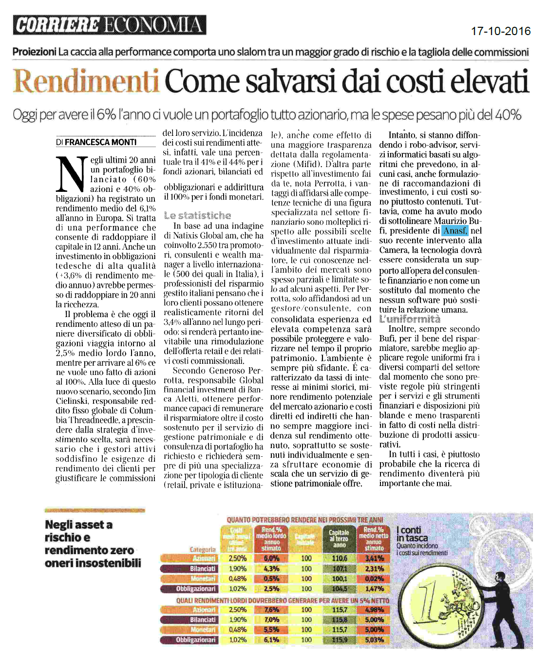 Rendimenti, come salvarsi da costi elevati